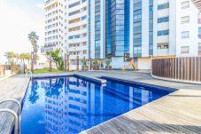 Ferienwohnung in Empuriabrava - 0003-CRISTALL MAR Appartement mit gemeinschäftliches Pool und Meerblick