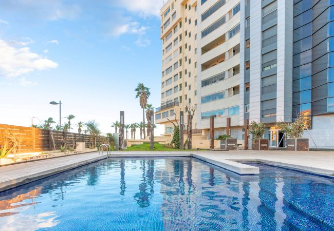 in Empuriabrava - 0003-CRISTALL MAR Apartment with community pool and seaview